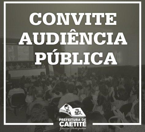 Convite – Audiência Pública
