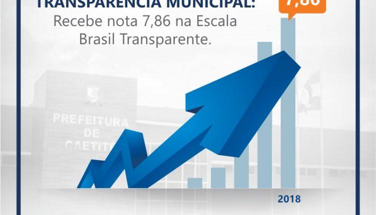 Caetité avança na Escala Brasil Transparente e atinge nota 7.86