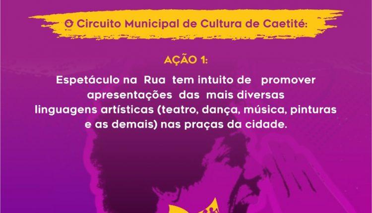 """Prefeitura de Caetité realizará o """"Espetáculo Na Rua"""", com artistas do Projeto Arte & Eu"""