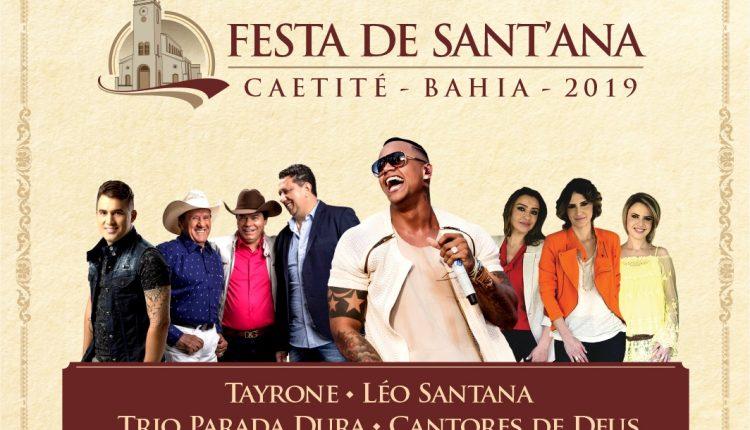 Prefeitura de Caetité divulga principais atrações da Festa de Sant'Ana 2019