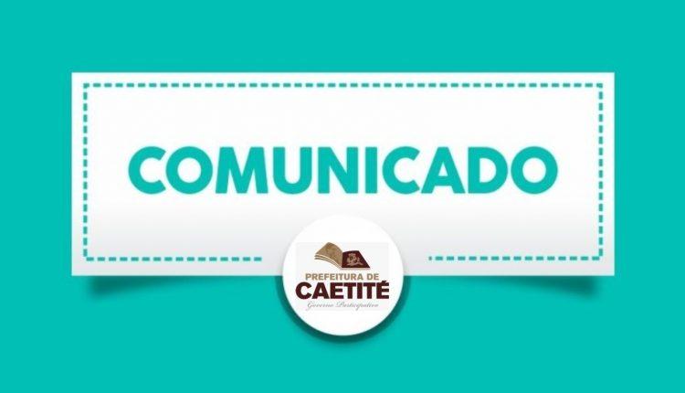 Prefeitura de Caetité informa sobre horário de expediente nas repartições públicas