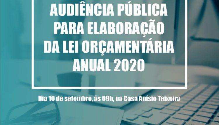 Prefeitura vai realizar audiência pública para discutir a LOA 2020