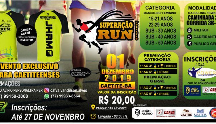 Inscrições abertas para o 1º Desafio Superação Run em Caetité