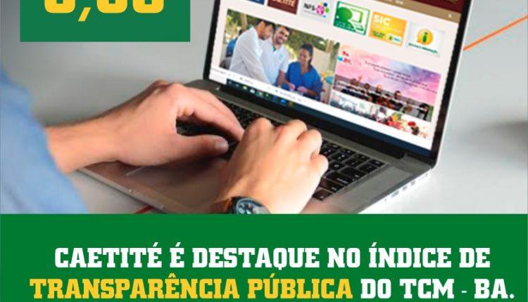 Salto positivo em transparência pública: Prefeitura de Caetité recebe nota 8.06 do TCM