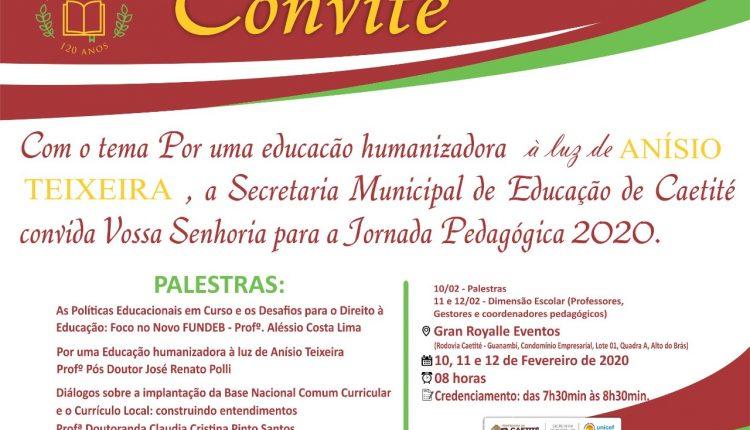 Secretaria de Educação divulga programação da Jornada Pedagógica 2020