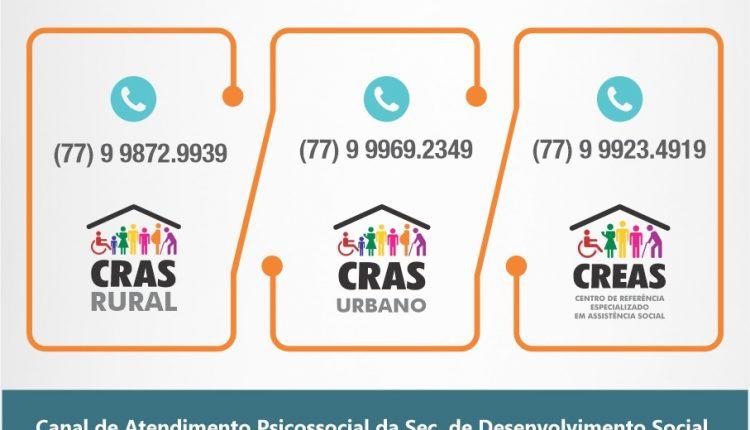 Tele-Social começa a funcionar para atender a população gratuitamente em Caetité