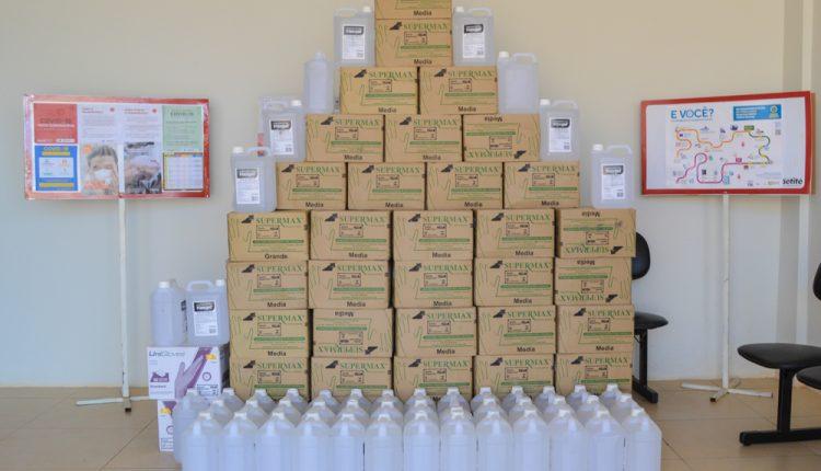 Prefeitura de Caetité recebe doação de cestas básicas e equipamentos de proteção da BAMIN