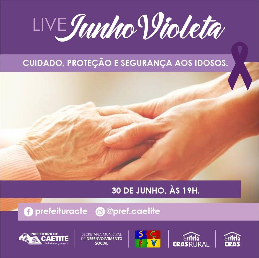Secretaria de Desenvolvimento Social promoverá live sobre a campanha Junho Violeta